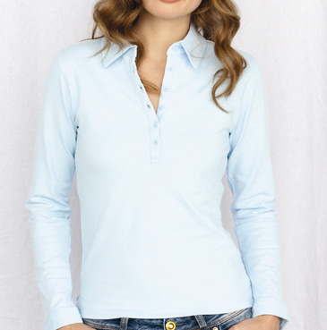 ladies long sleeve polo shirt