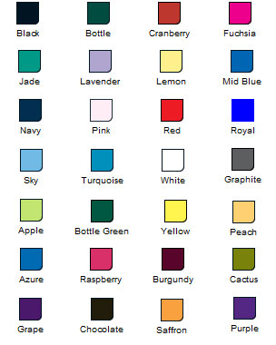 womens pique colour chart